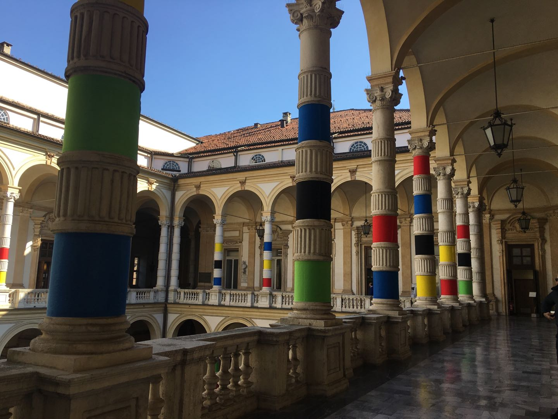 """张红梅公共艺术作品-""""城市色彩""""与""""色彩西安 """"系列 在意大利都灵大学图片"""